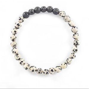 Jewelry - 2/$20▪️Dalmatian Jasper & Lava Stone Bracelet